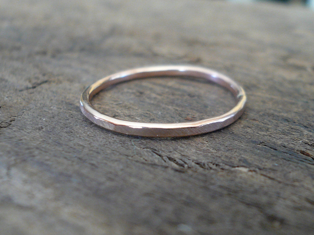 Every Day Ring - 14kt Rose Goldfill Stacking Ring. Handmade. Hand forged.