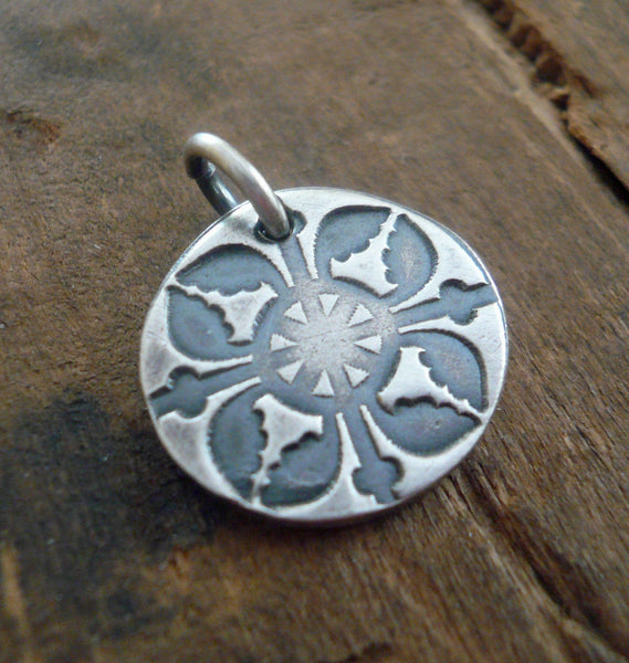 French Quarter Pendant- Handmade. Oxidized Fine Silver. Design Your Own Series. Choice of 1 Pendant