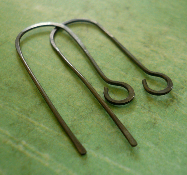 12 Pairs of my Minimalist Sterling Silver Earwires - Handmade. Handforged. Heavily Oxidized