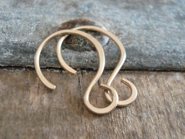 Solitude 14kt Goldfill Earwires - Handmade. Handforged