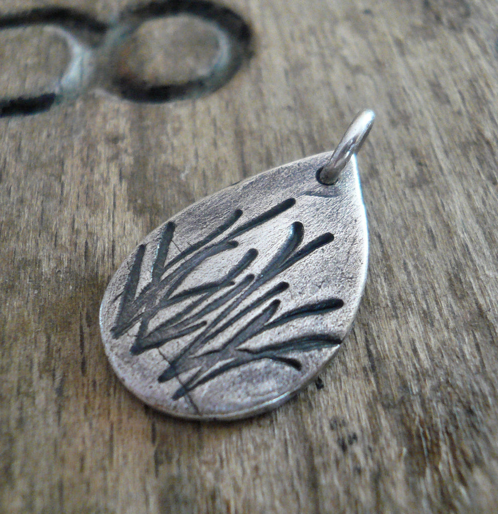 Summer Fields Pendant - Handmade. Oxidized fine and sterling silver. Summer Fields Collection. Design Your Own Series