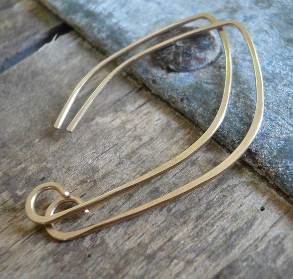 Hint 14kt Goldfill Earwires - Handmade. Handforged. Yellow or Rose Goldfill