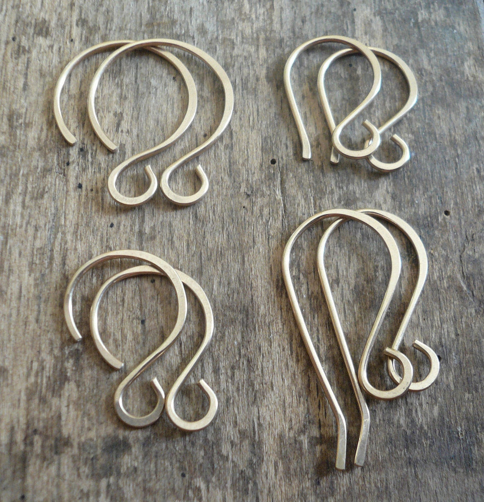 Sample Pack 14kt Goldfill Earwires - Handmade. Handforged. Made to Order