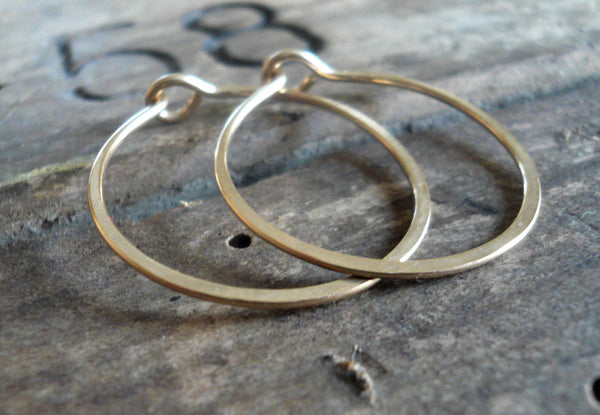 Gold Every Day Hoops - Handmade in 14kt Goldfill. Choice of sizes