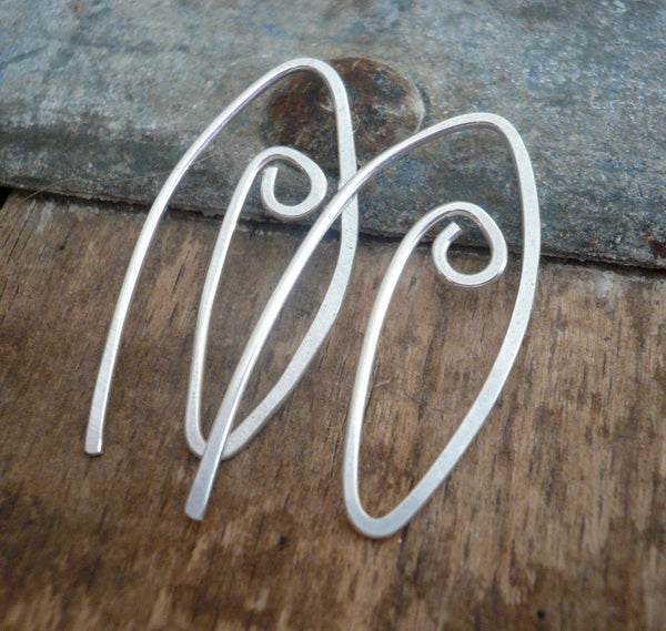 12 Pairs of my Furl Sterling Silver Earwires - Handmade. Handforged