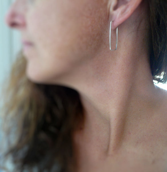 Svelte Hoops - Handmade. Hand forged. Choice of 3 sizes.14kt Goldfill Earrings