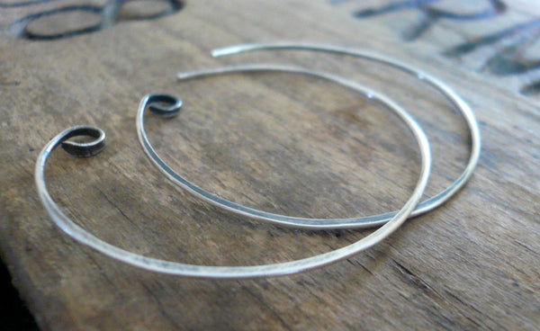 Shoals Sterling Silver Earwires - Handmade. Handforged. Oxidized & polished
