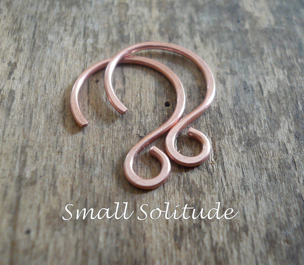 8 Pair Variety Pack Antiqued Copper Earwires - Handmade. Handforged