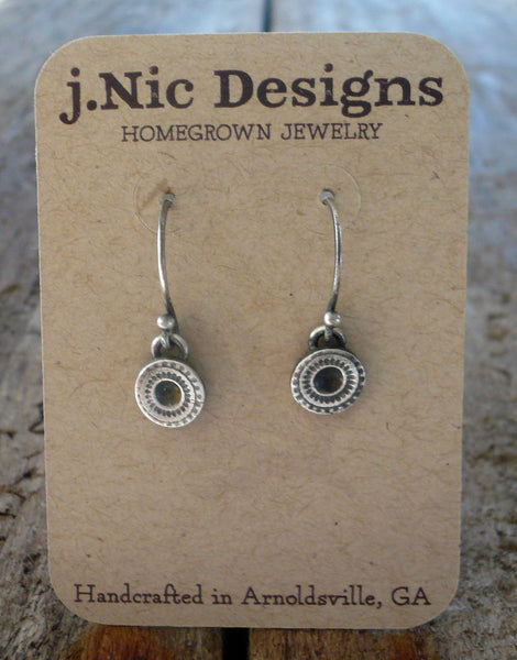 Savannah. Old South Collection Earrings - Oxidized fine silver. Dangle earrings. Handmade