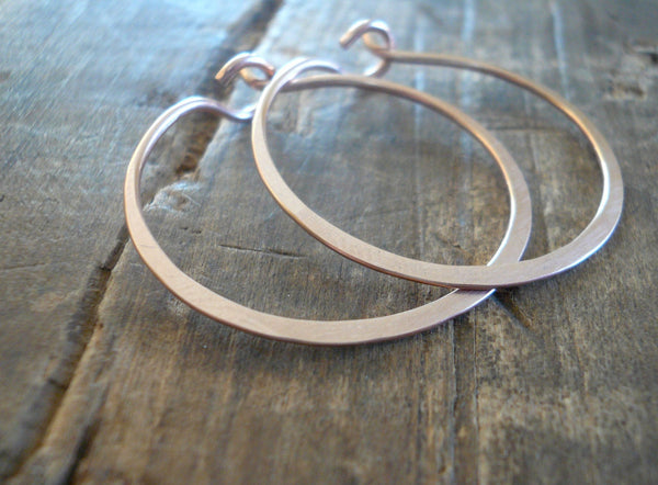 Rose Gold Every Day Hoops - Handmade in 14kt Rose Goldfill, Choice of 6 sizes