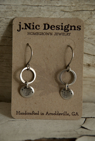 Bramble - Oxidized Fine & Sterling Silver Earrings. Handmade