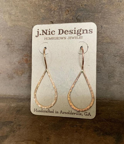 Lissome Earrings Medium in 14 kt Goldfill - Handmade. Handforged. Choice of 2 finishes.