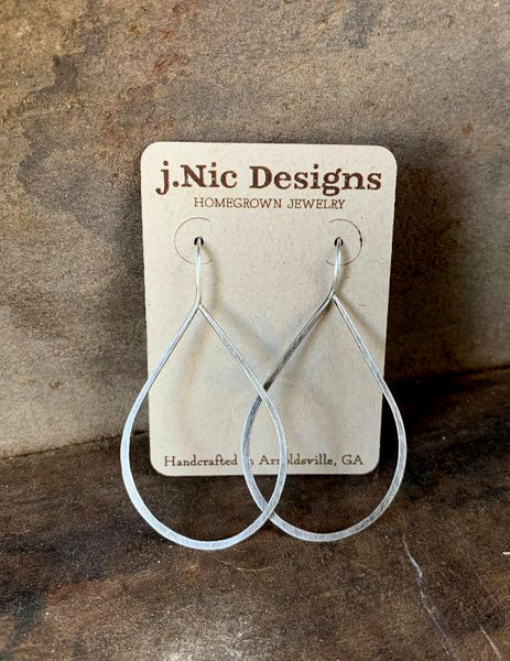 Lissome Earrings Large in Silver - Handmade. Choice of 4 finishes. Oxidized Sterling Silver