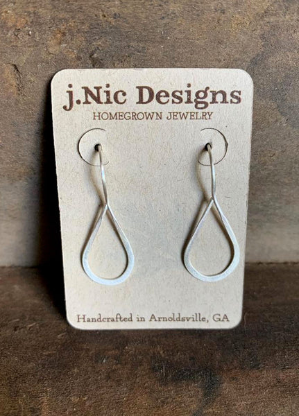 Lissome Earrings Small in Silver - Handmade. Choice of 4 finishes. Brushed/Matte Sterling Silver
