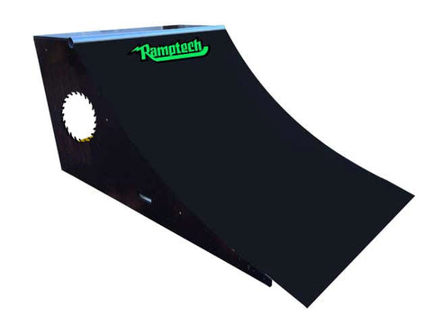 "NEW BLACK -3' Quarterpipe- 36""HT x 48"" WD x 72""L"
