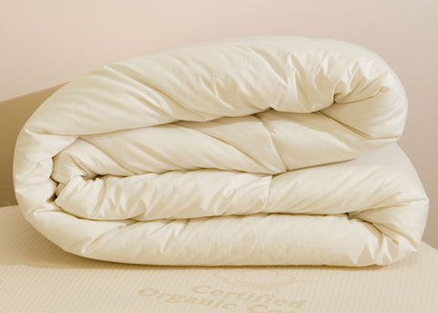 Organic Wool Duvet with 100% Cotton Percale Cover