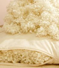 Organic Wool Knops Pillows with Percale Cotton Cover