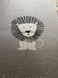 Lion Motif Throw