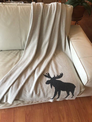 Moose Motif Throw