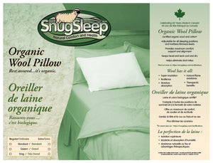 Organic Wool Knops Pillows with Organic Cotton Cover