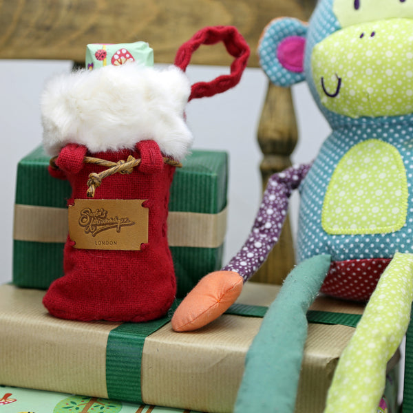 Mini Christmas Sack - Santa's Little Workshop