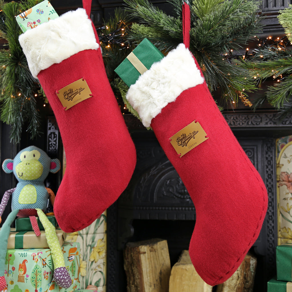 Medium Christmas Stocking - Santa's Little Workshop