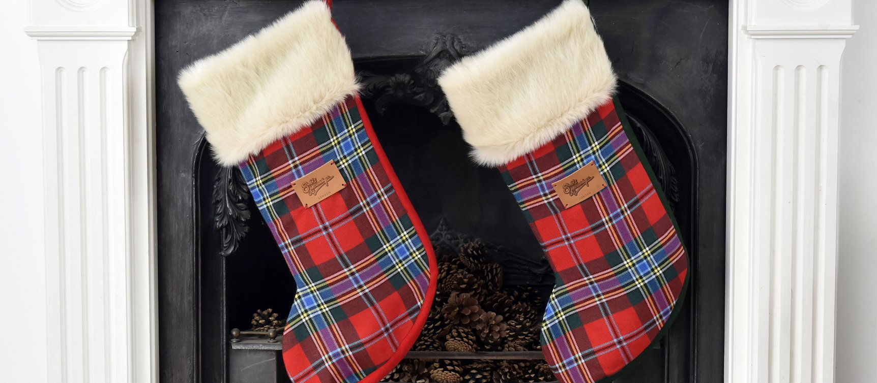 Personalised Luxury Tartan Christmas stockings