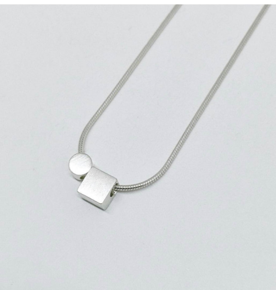 Kari Woo Square + Circle Necklace