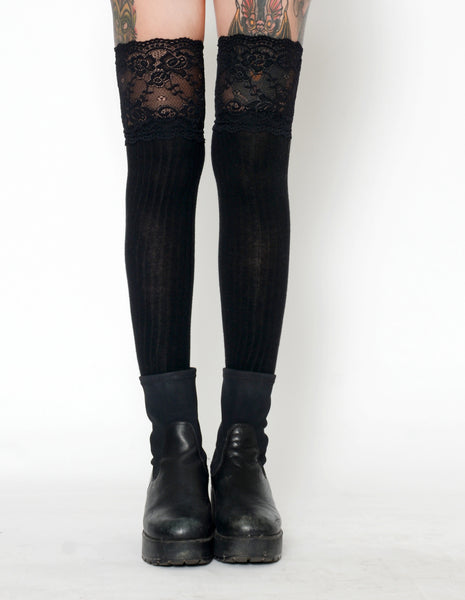 732a561af7e Knee High Lace Stockings - Vera s Eyecandy