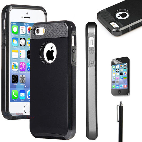 Hybrid Shockproof Hard & Soft Rugged Rubber Case For iPhone 5, 5s