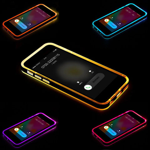 LED Hybrid Rubber Case For iPhone