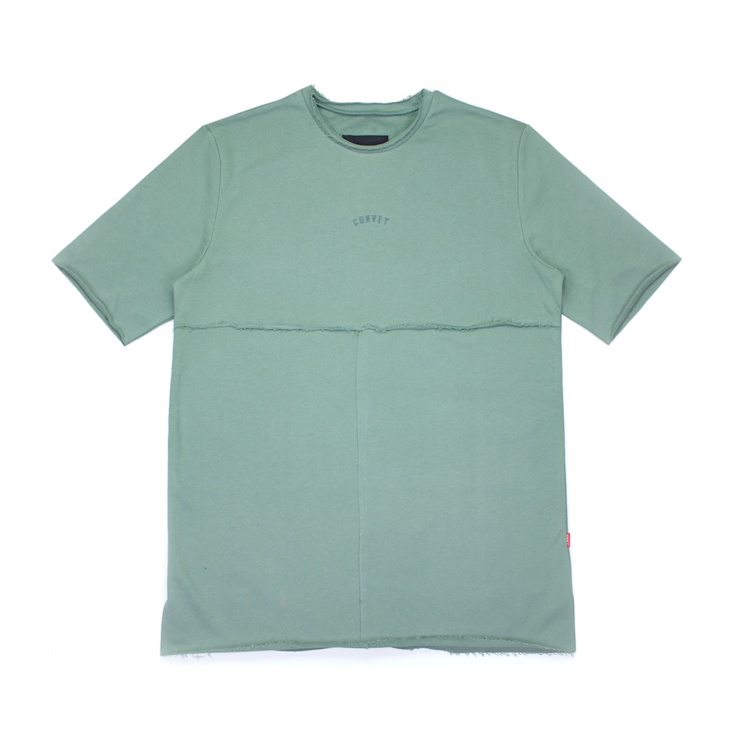 Convey Raw-Edge Split Hem Tee