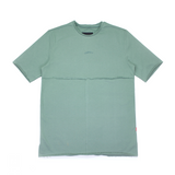 Seafoam Green Raw Cut Split Hem Tee