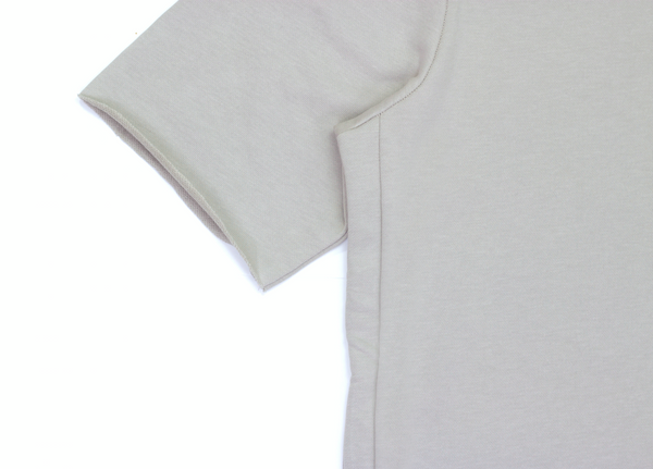 Concrete Grey Raw Cut Side Drawstring Tee