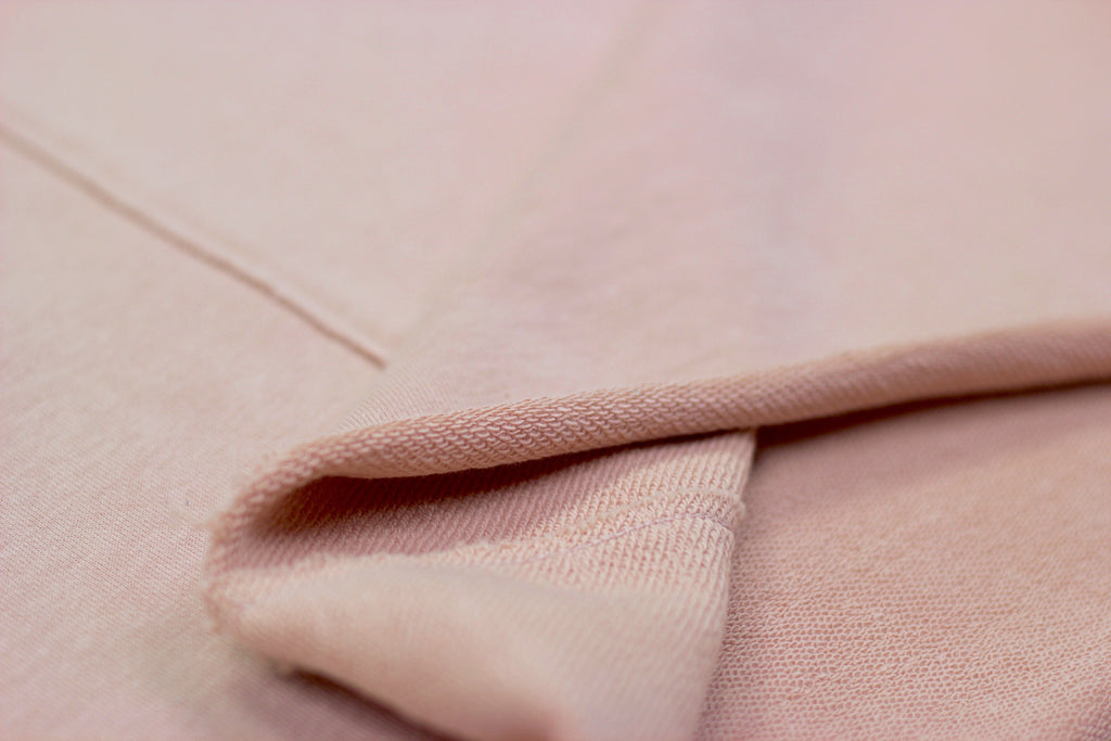 Pink Raw Cut Split Hem Tee