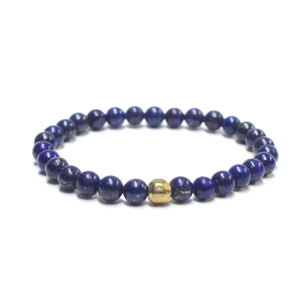 Blue Lapis Beaded Bracelet