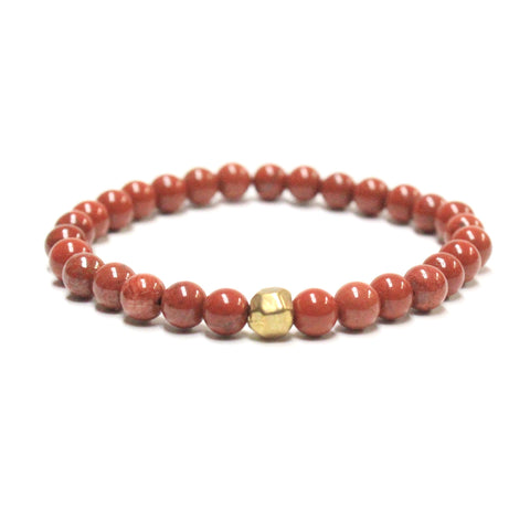 Red Brick Beaded Bracelet