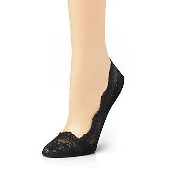 CK MCX517 Lace Footlets Black