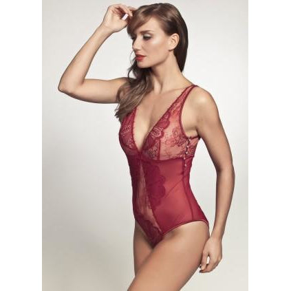 Pleasure State Sicily Bodysuit Rumba Red