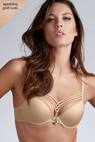 Marlies Dekkers Dame de Paris Push Up Gold Lurex