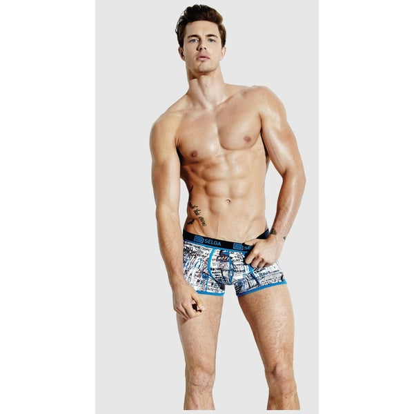 Selga Men's Boxer Blue Comic