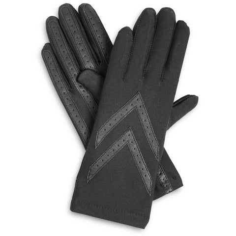Isotoner Gloves Knit Lined Black