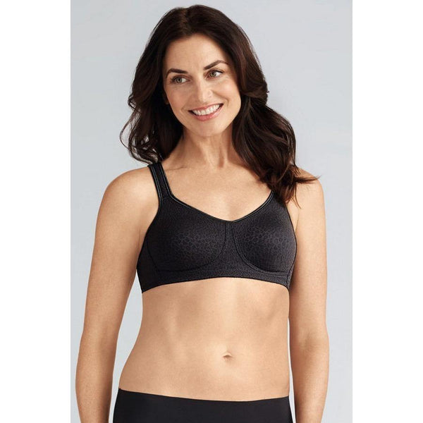 Amoena Mona  614 Pocketed Non Wired Bra Black