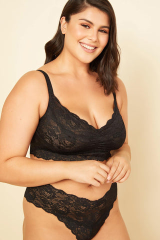 Cosabella Extended Never Say Never Sweetie Bralette 1301P Black
