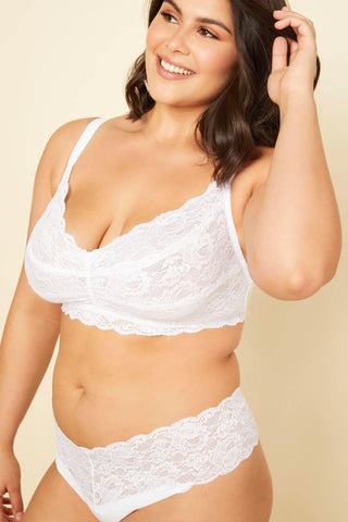 Cosabella Extended Never Say Never Sweetie Bralette 1301P White