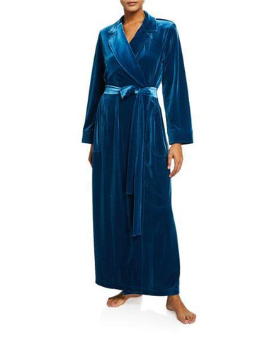 Diamond Tea Velvet Wrap Robe 292-9