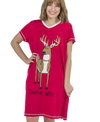 Lazy One 100% Cotton V-Neck Nightshirt - Trophy Wife