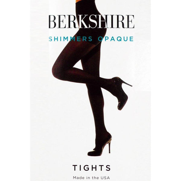 Berkshire 4643 Shimmers Opaque Control Top Black Tights