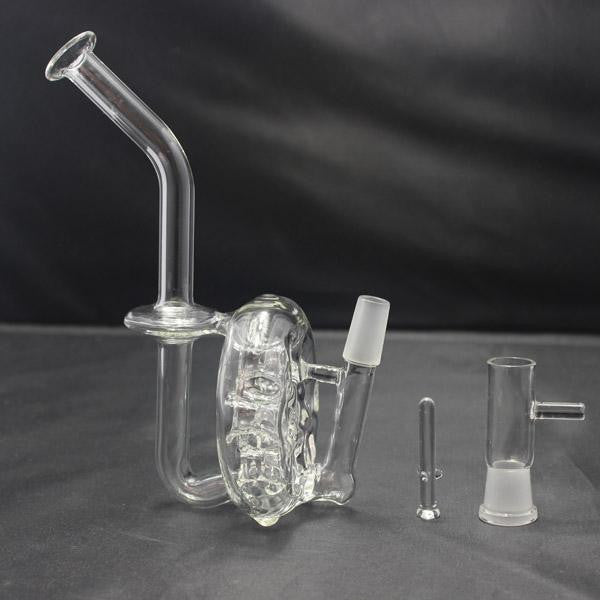 Honey Comb Cereal Style Rig with 14mm Swiss Perc 2 Stage Recycler