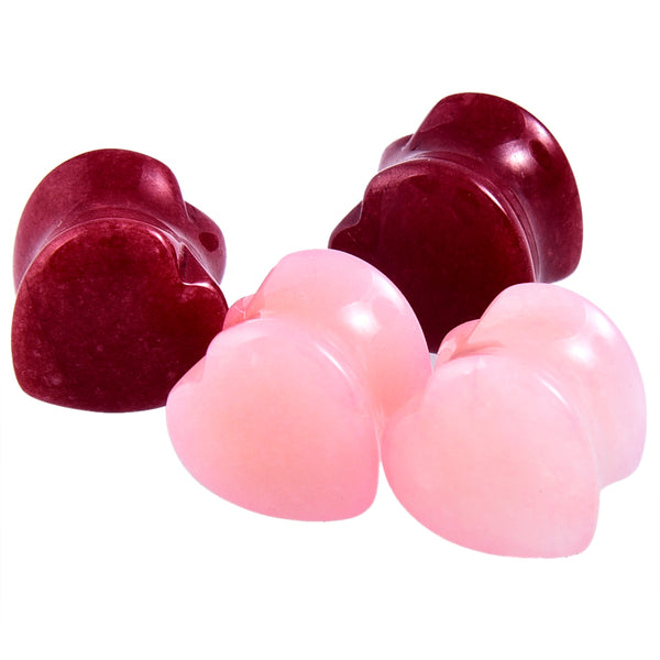 2PCS Heart Stone Plugs